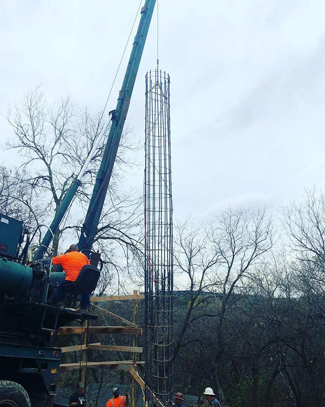 Setting pier cages at our  South 5th project #michaelhsuarchitecture #risingerbuild