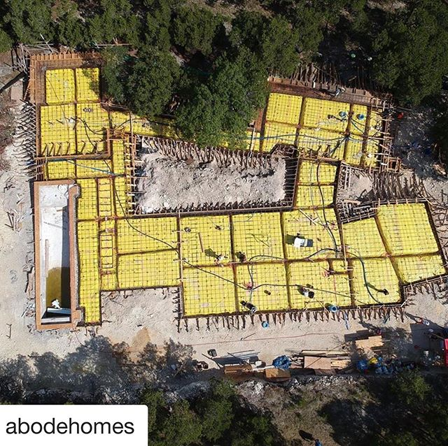 Repost courtesy of #abode modern homes, early morning slab pour tomorrow