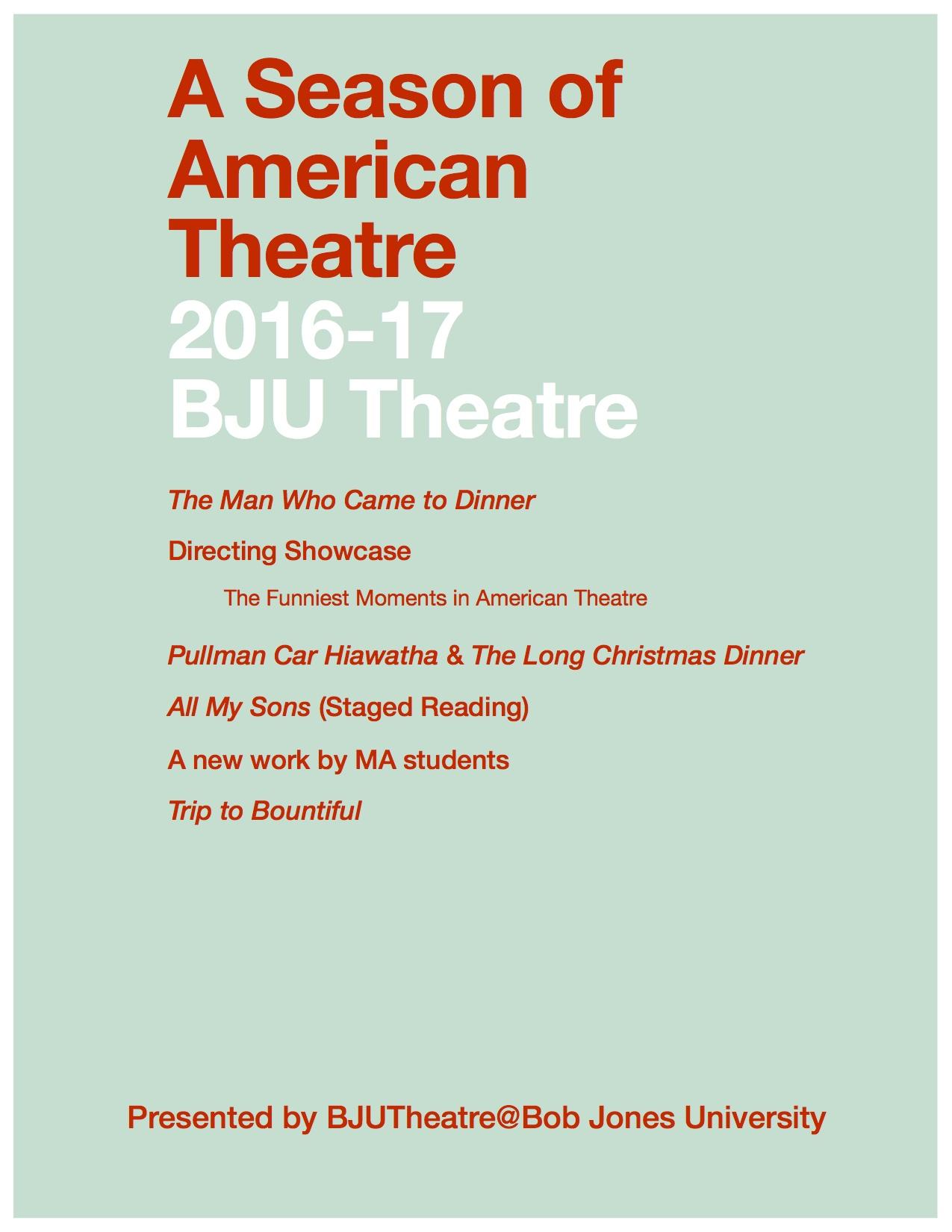 2016-2017 Theatre Arts Season