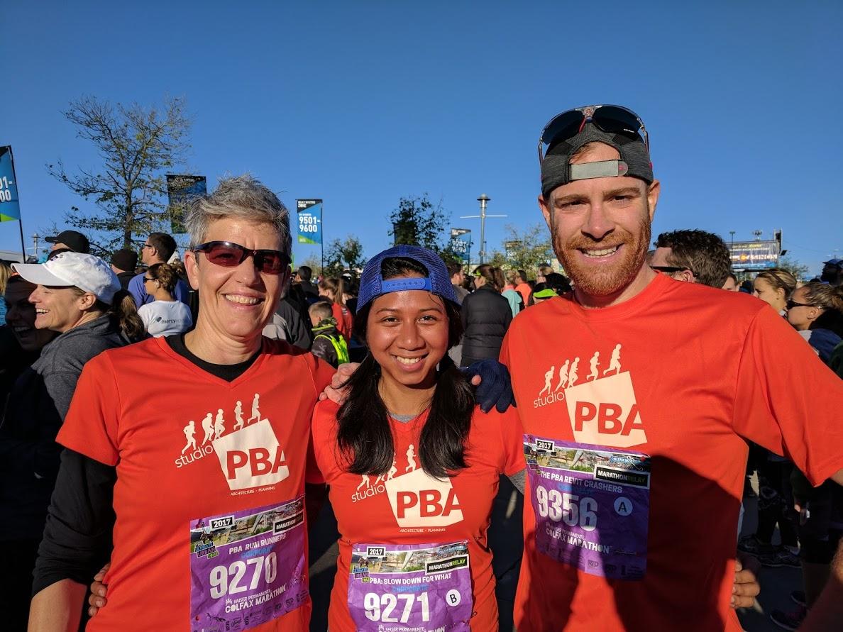 Leg 1 Runners: Kathy, Tearar & Seth