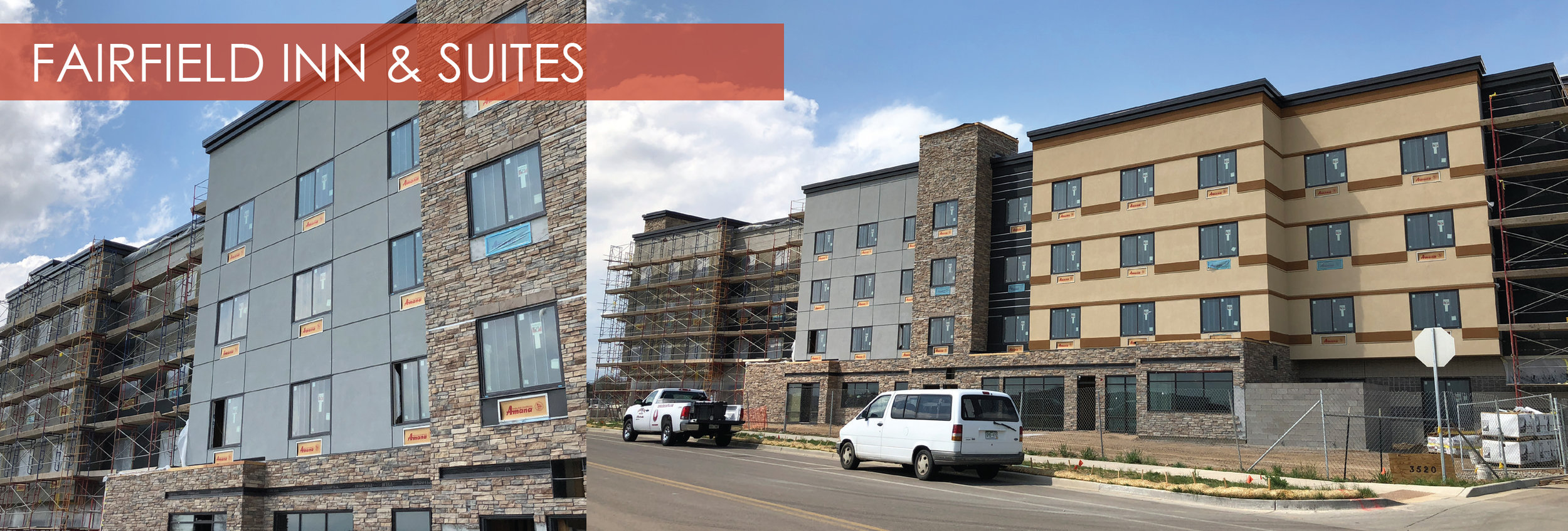 Fairfield Inn and Suites, Fort Collins, Colorado  The Fairfield Inn and Suites in Fort Collins is currently underway. As of April, interiors are being outfitted and exterior palettes are being finalized on the building. The project is slated to open for its first reservation holders in August 2018.