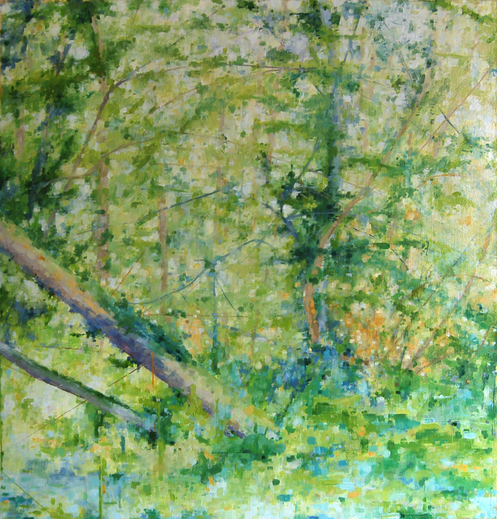 """Spring Morning, Return of the Sun"", 2012, oil on paper, 21"" x 20"", (private collection)"
