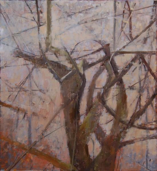 """Approaching Winter"", 2011, oil on paper, 14"" x 13"""