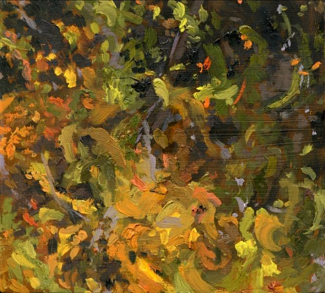 """10.19.2010"", 2010, oil on panel, 4"" x 4"""
