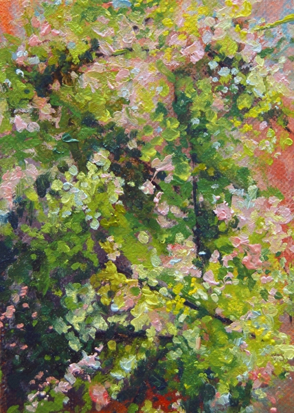"""4.20.2010"", 2010, oil on linen, 6"" x 4"", private collection"
