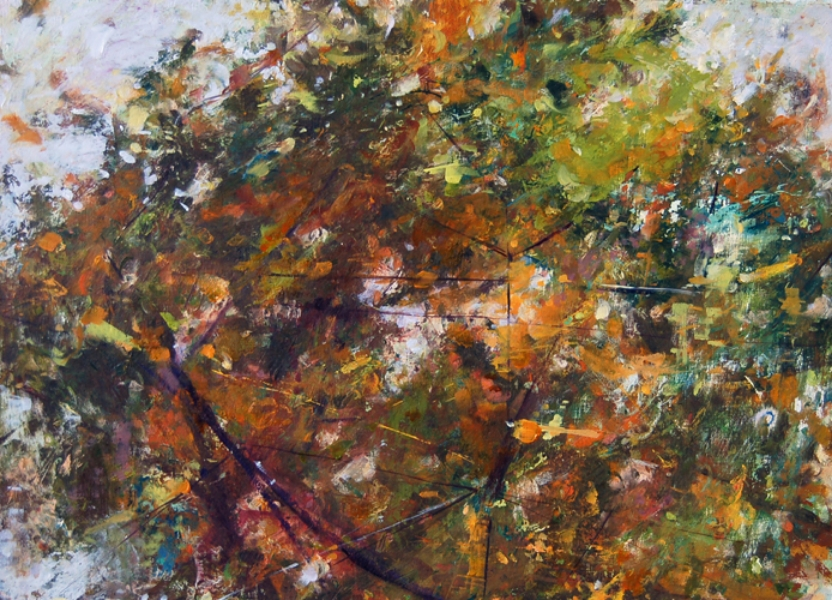"""""""End of Autumn"""", 2011, oil on paper, 15"""" x 20"""""""