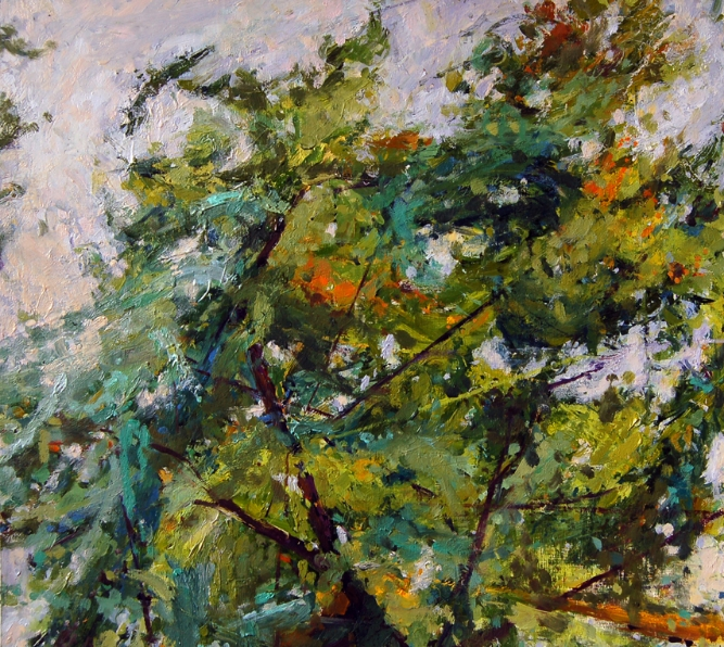 """""""Beginning of Fall"""", 2012, oil on paper, 21"""" x 20""""  (private collection)"""