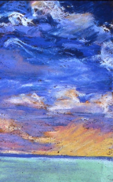 """""""Chicago, Easter Storm"""", 2003, pastel on paper, 8"""" x 6"""""""