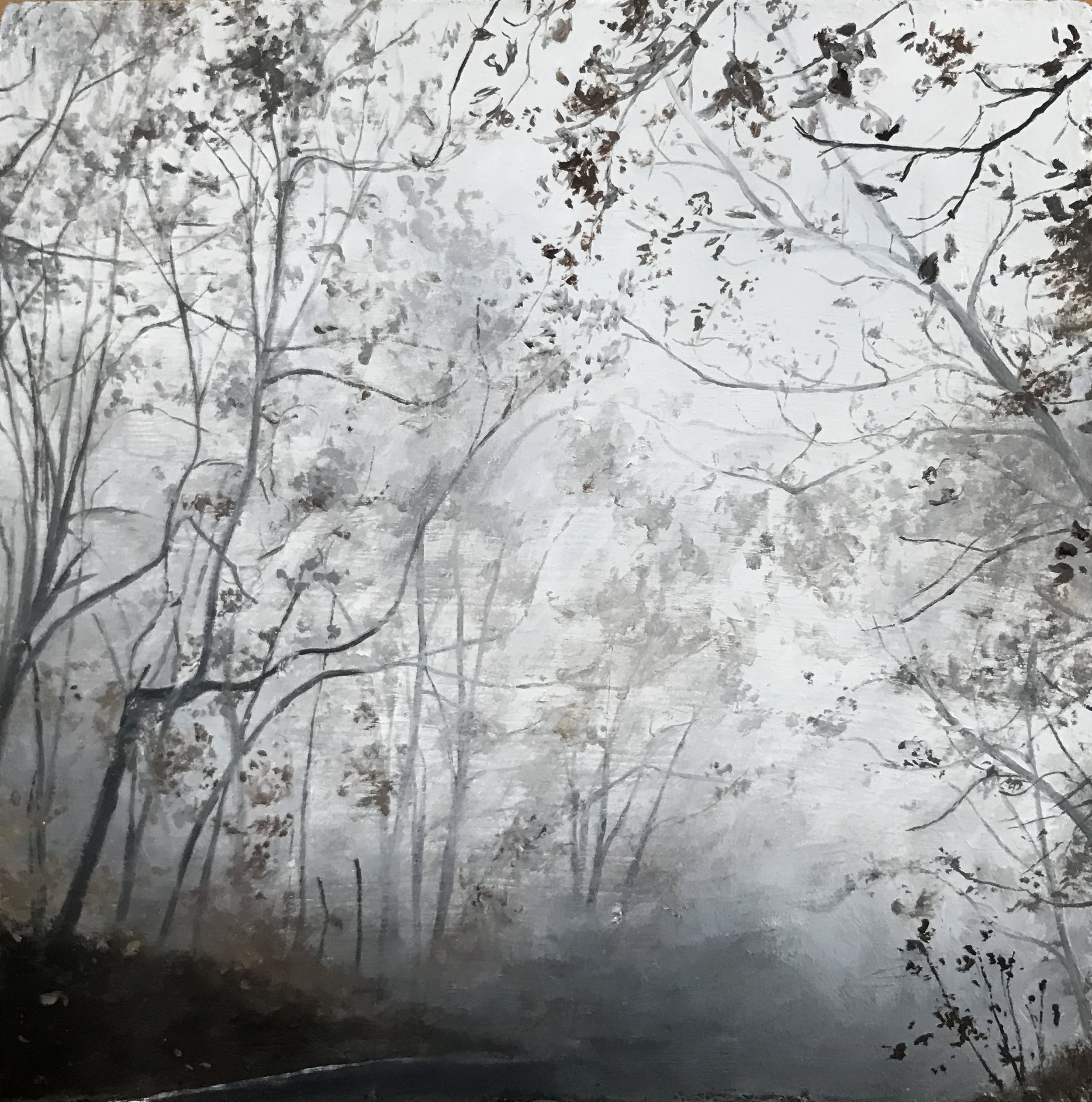 """The Pull of the Fog"", 2018, oil on panel, 5"" x 5"""