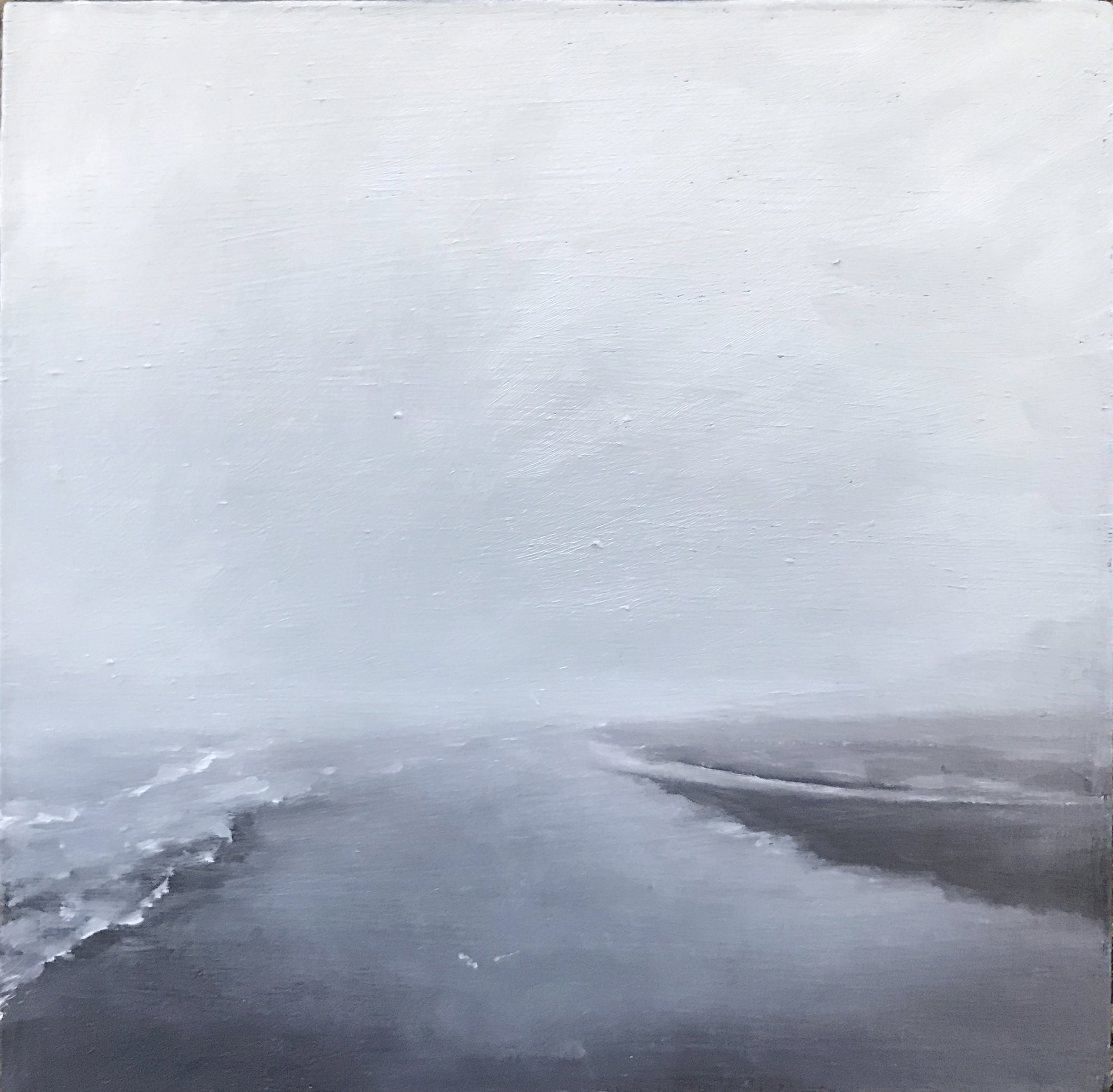 """Edisto, New Year's"", 2019, oil on panel, 4.25"" x 4.25"" (on hold)"