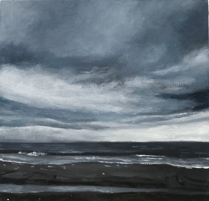 """Edisto, New Year's Morning"", 2019, oil on panel, 4.25"" x 4.25"""