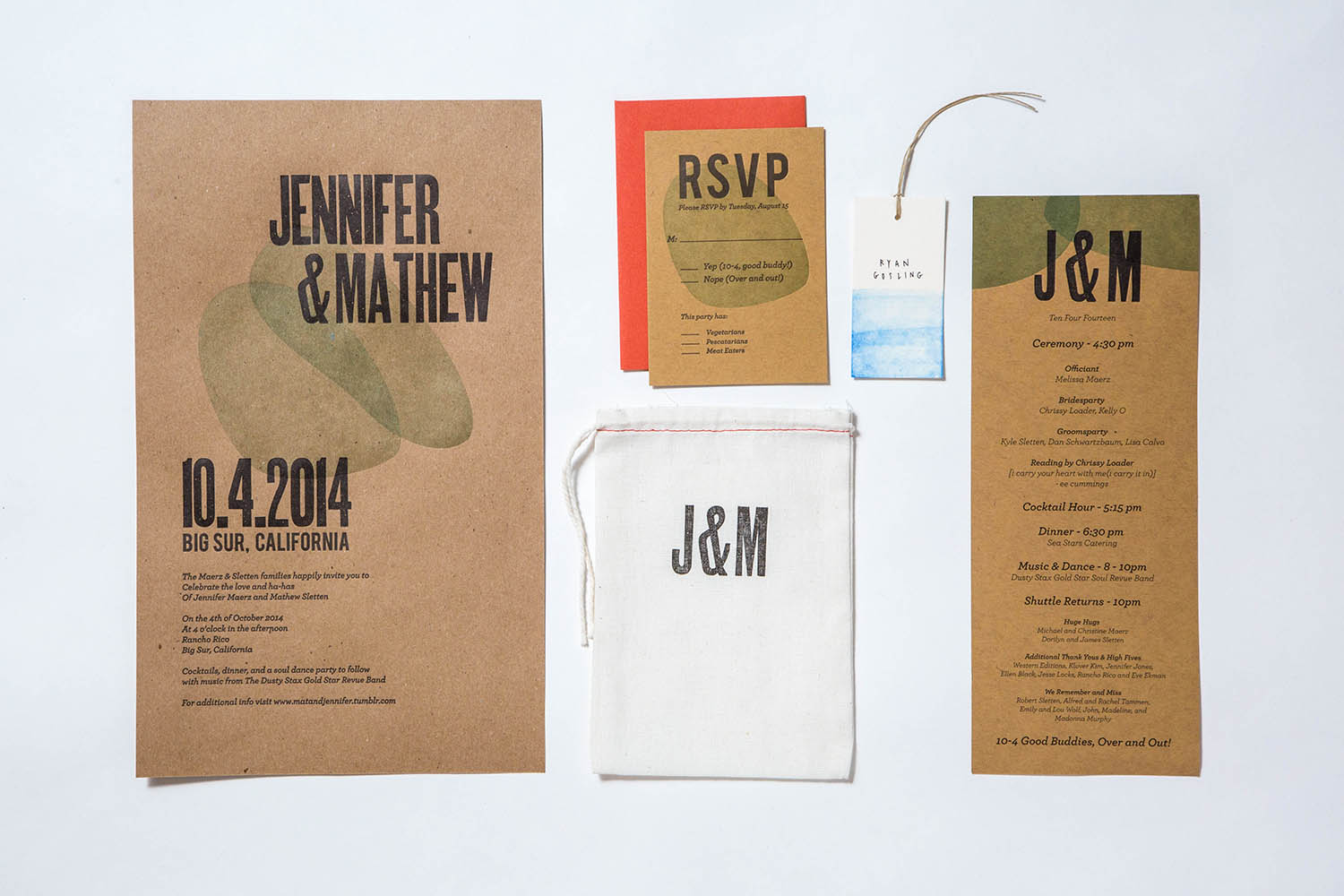 Letterpress Woodtype Invite with Program