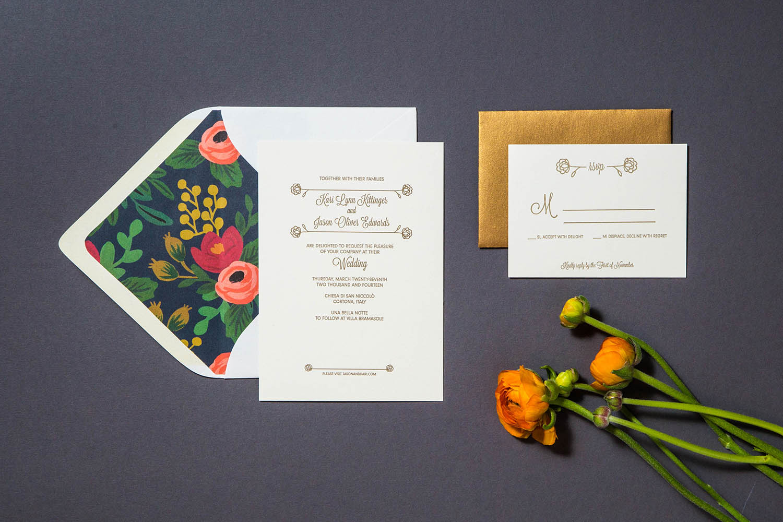 Letterpress wedding Kari