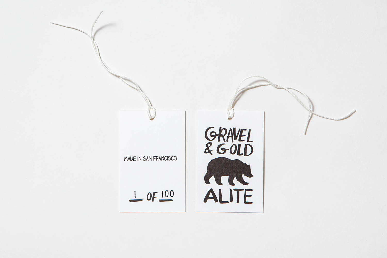 Letterpress Alite x Gravel and Gold tags