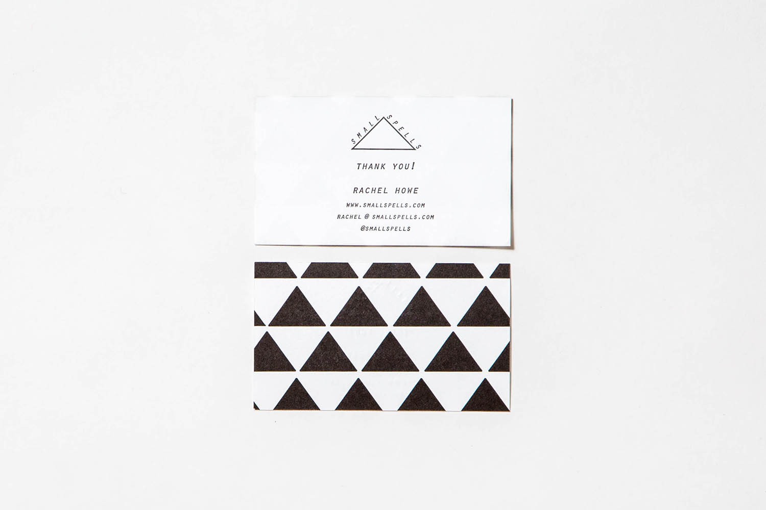 Letterpress Rachel Howe business cards