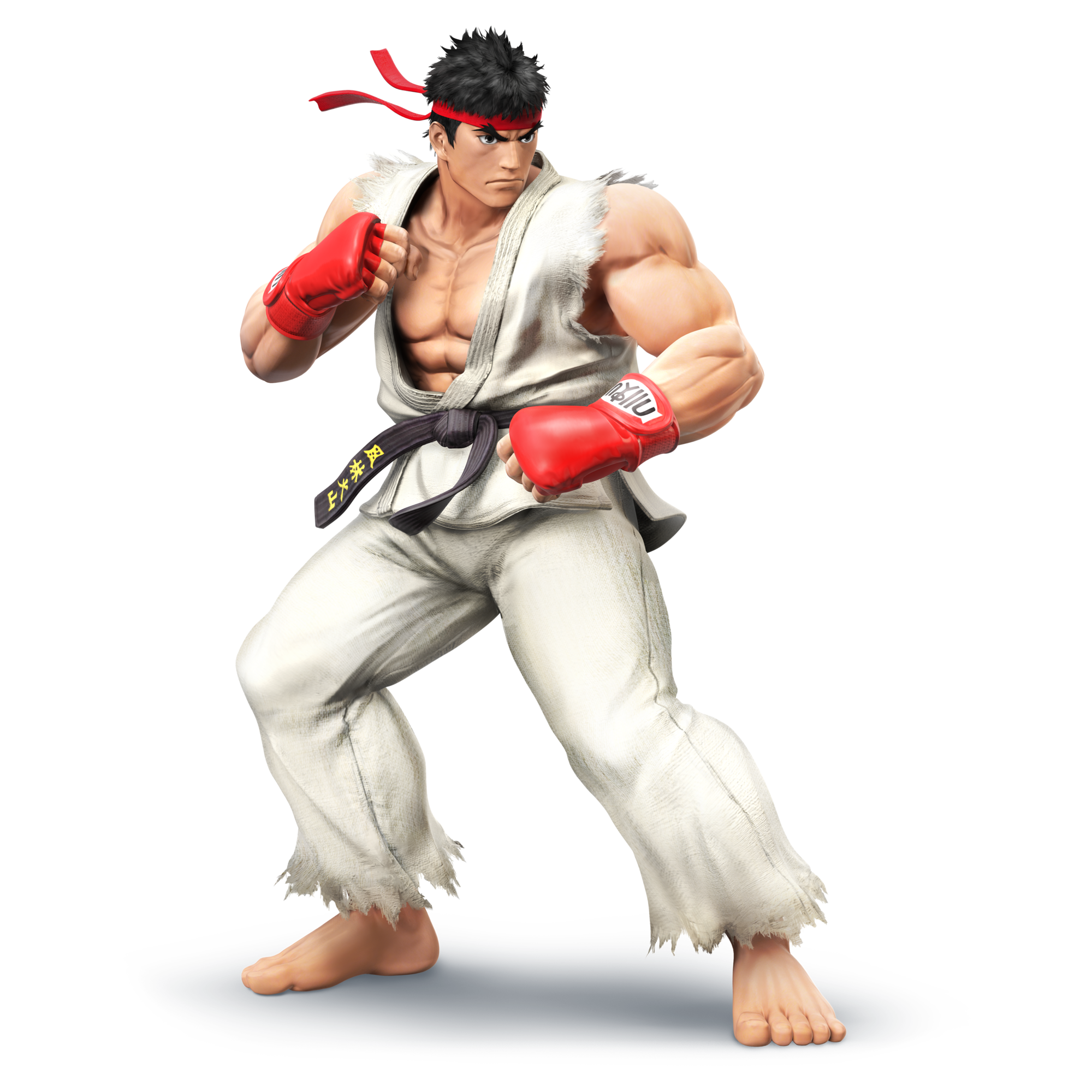Ryu as he appears in super smash bros