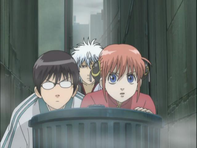 From Left to Right: Shinpachi, Gintoki, Kagura