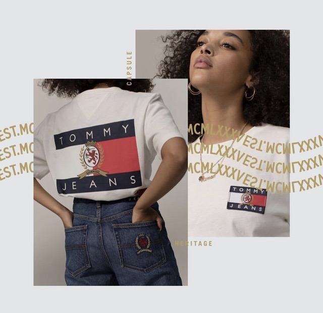 Part of TOMMY's renewed success is the reintroduction if TOMMY JEANS, which made the brand the talk of the town in the 90s