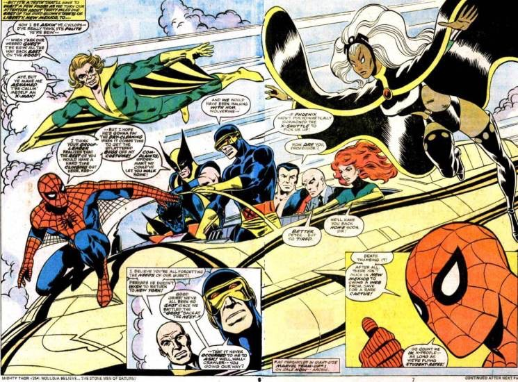 MARVEL TEAM UP: X-MEN AND SPIDERMAN.    I actually had this comic but I think my grandma threw it away by mistake.    **goes and have a long talk with my grandma**