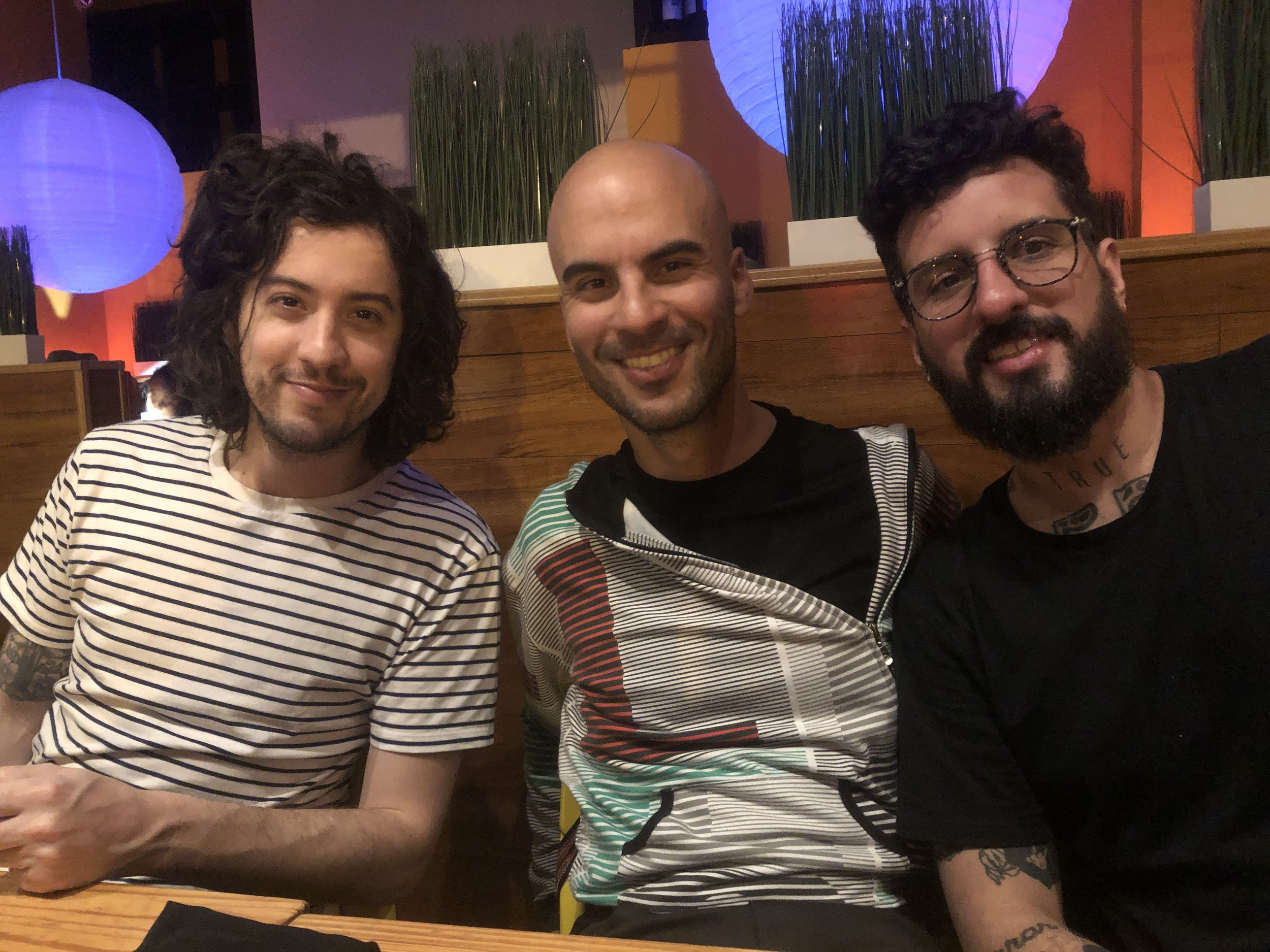Pictured left to right; Josh Reames (NYC), Gili Avissar (Tel Aviv, Israel) and Bruno Miguel (Rio de Janeiro, Brazil)