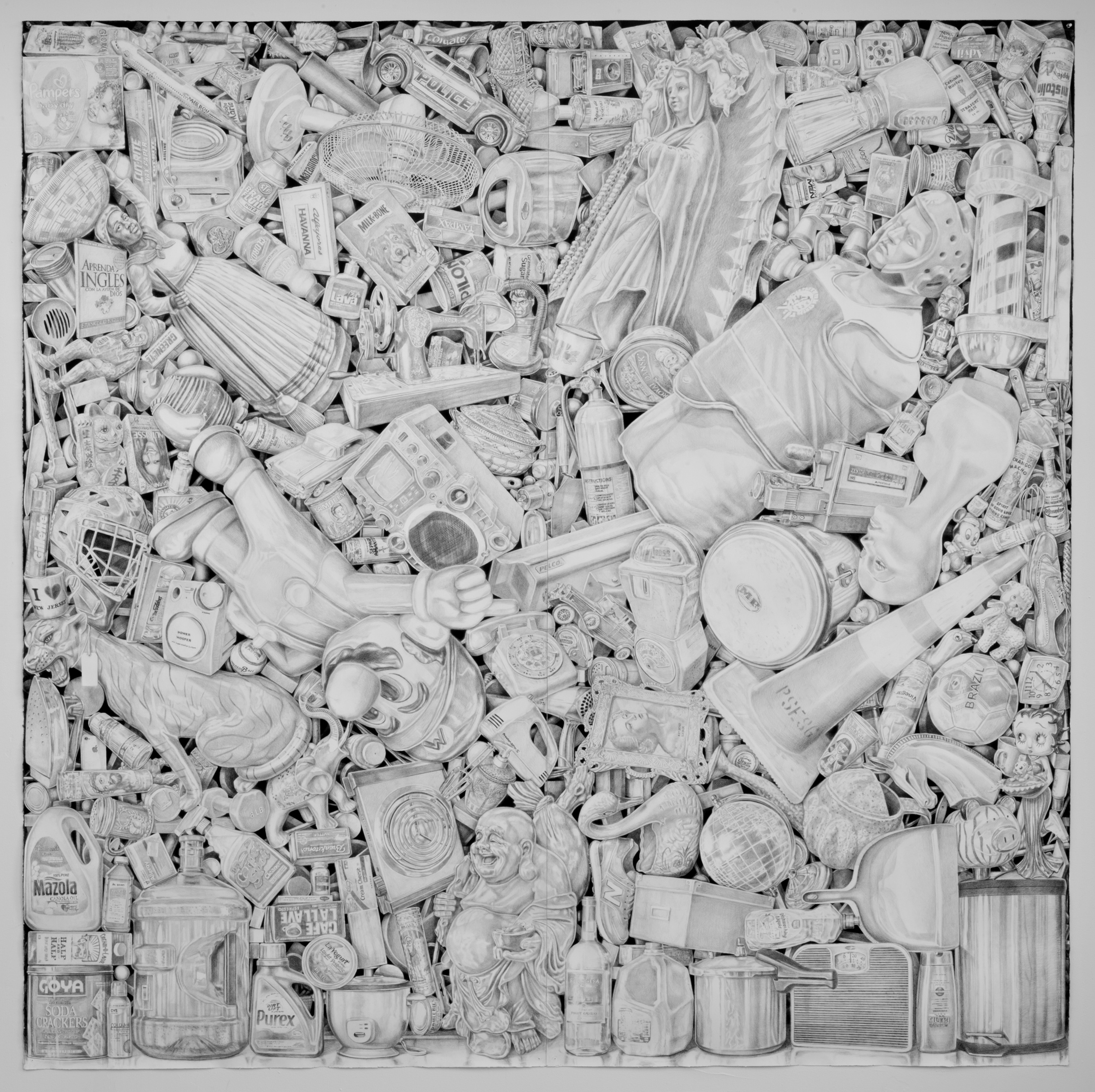 Jairo Alfonso.494(Bergenline Avenue)2015. Watercolor pencil_paper. 89.9x89.3 inches.jpg