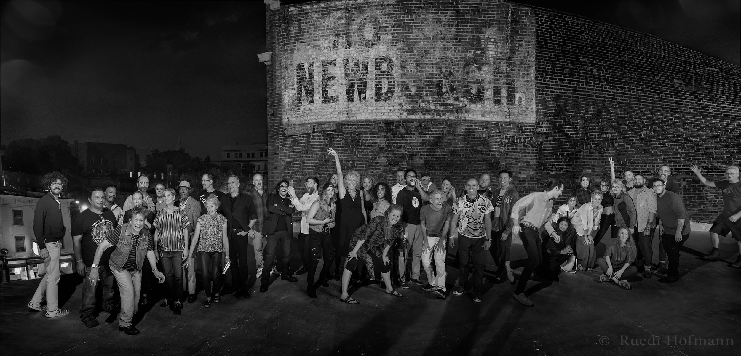 NOS 2016 artists on the roof of Terran Studio, Newburgh, NY