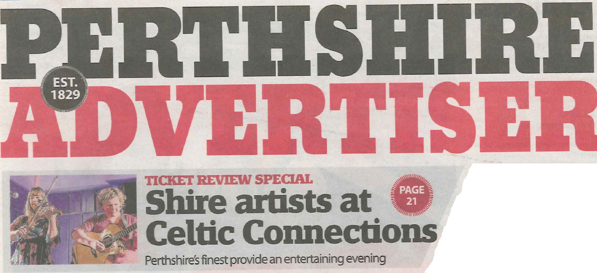 Perthshire Advertiser front page