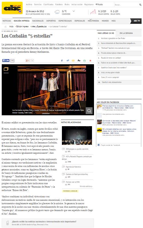 ABC Color - Paraguayan newspaper
