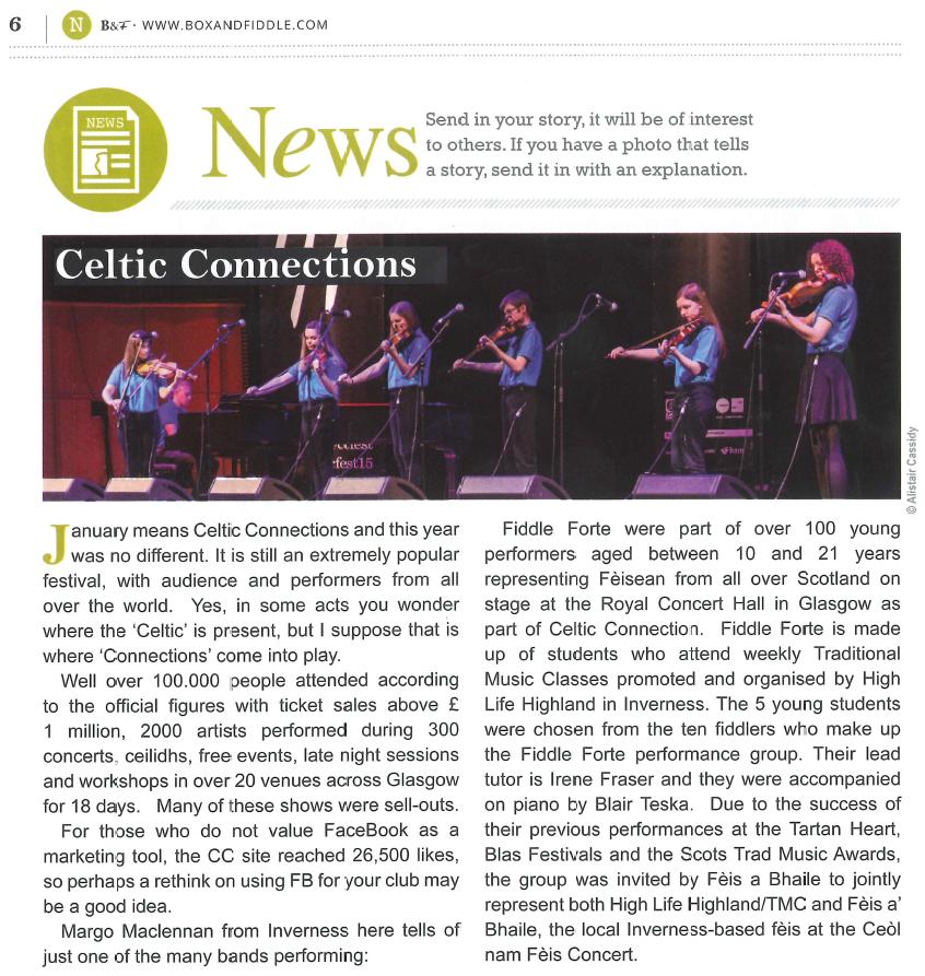 Box & Fiddle Magazine - March 2015