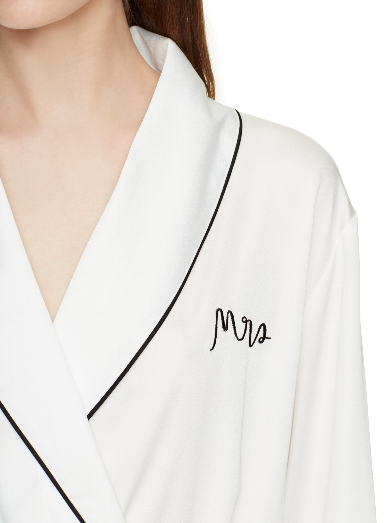 """Kate Spade Mrs. Robe  Loving this simple & elegant """"Mrs"""" Robe! Perfect from your first official morning together to anniversaries ahead, begin and end your days with this silky robe in an endlessly beguiling shape."""