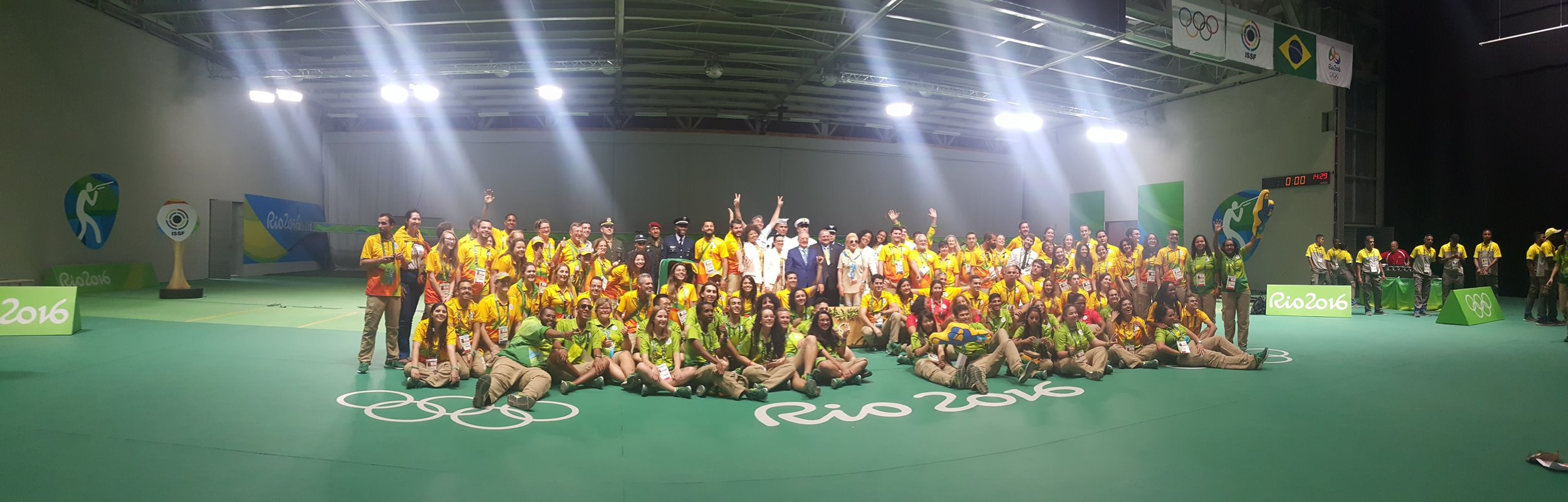 The Volunteers at the Shooting Range Rio 2016