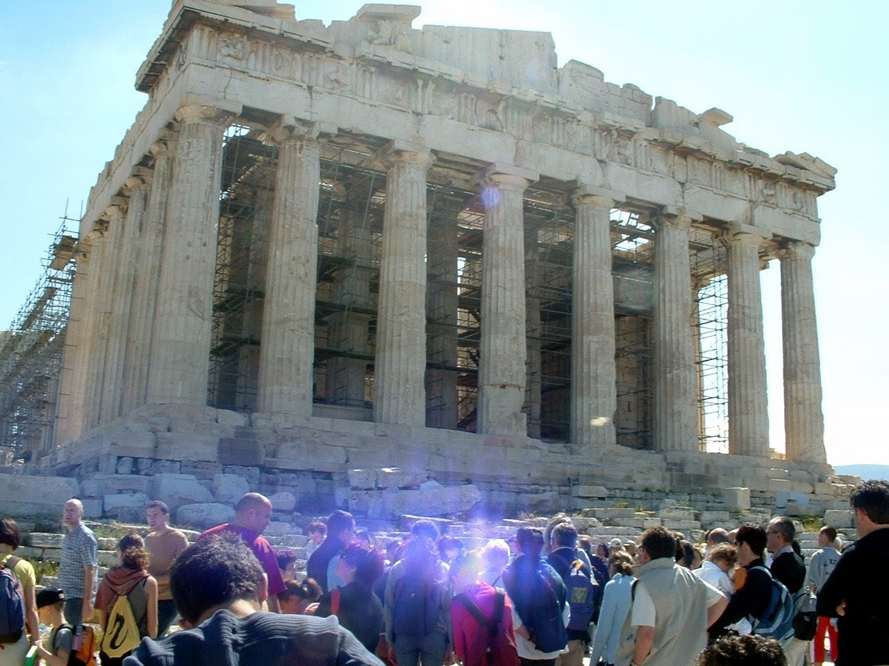 These are the crowds behind which I had to shuffle in 100 degree heat to visit the Parthenon during the Athens 2004 Games…pre-buy your tickets!