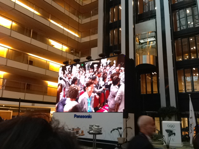 In some IOC Sessions where guests are not allowed, we get to watch everything from the lobby...here the announcement when Tokyo won the 2020 Games