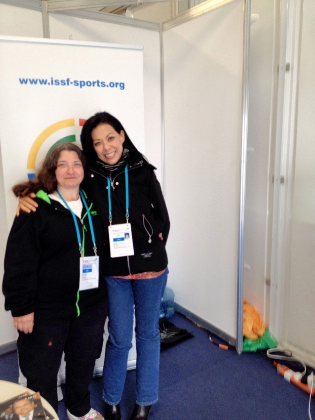 Love - meeting people like Rosita, my best buddy in London at the Pre-Olympic test event & the Olympic Games
