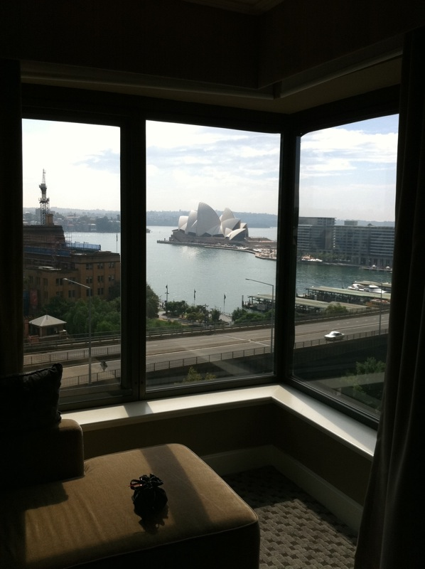 View from hotel window - This is all I saw of Sydney on my first trip to Australia
