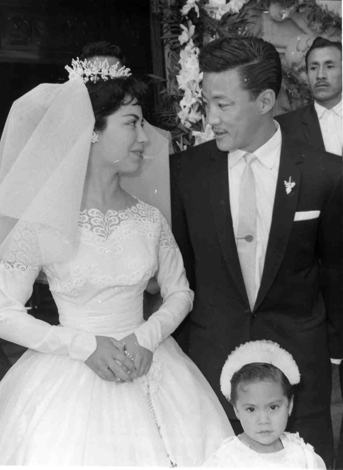Mom and Dad on their wedding day