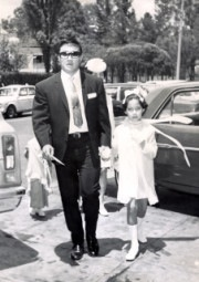 Dad and I on our way to a wedding