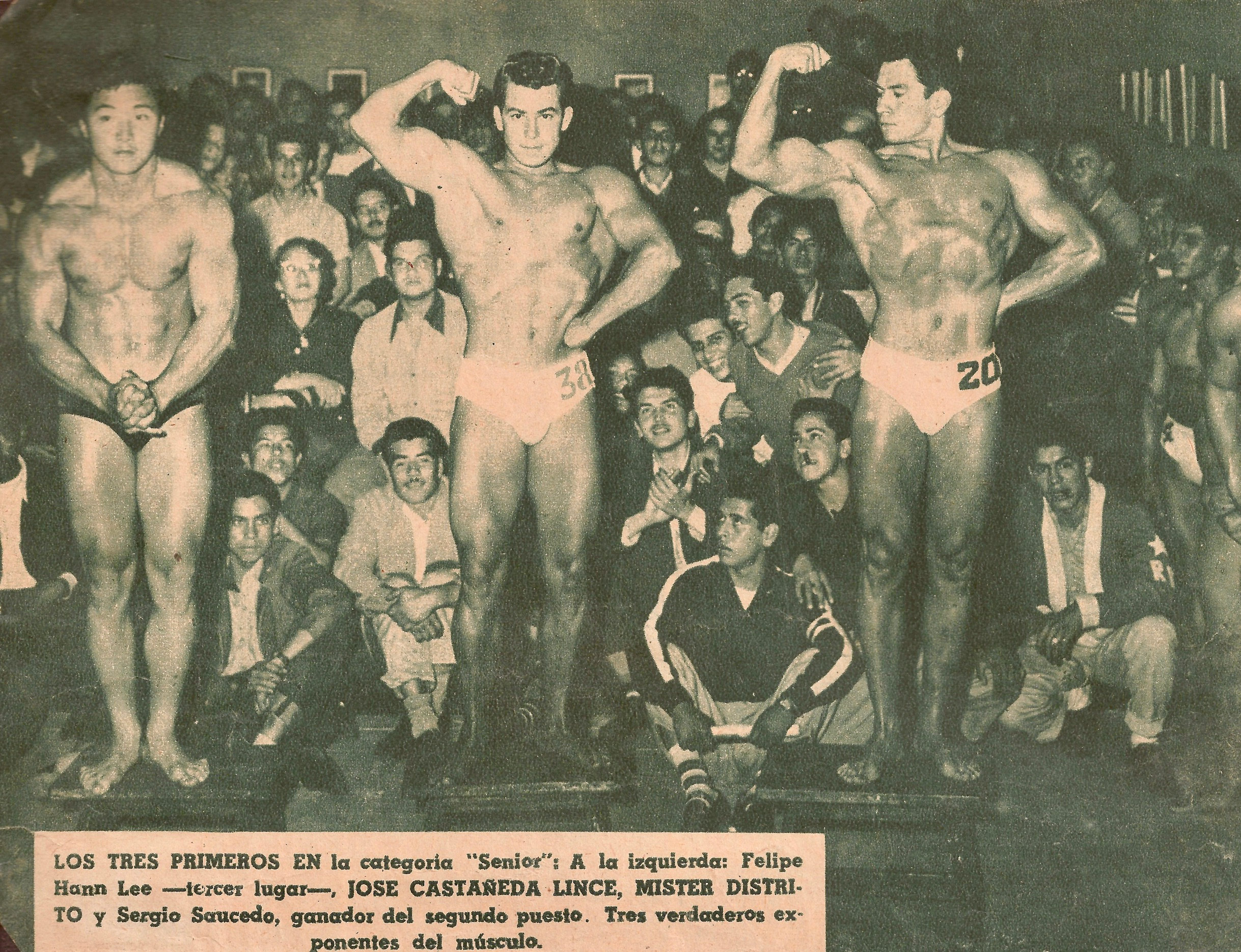 Dad in the newspaper, one of the many times he placed in bodybuilding contests