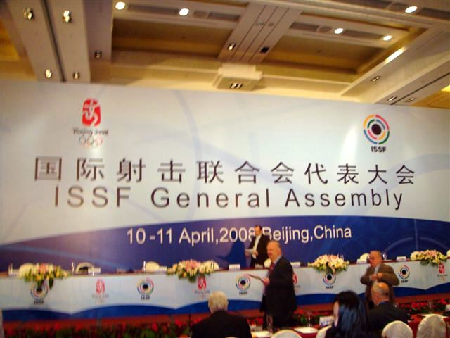The ISSF General Assembly during the pre-Olympic test event