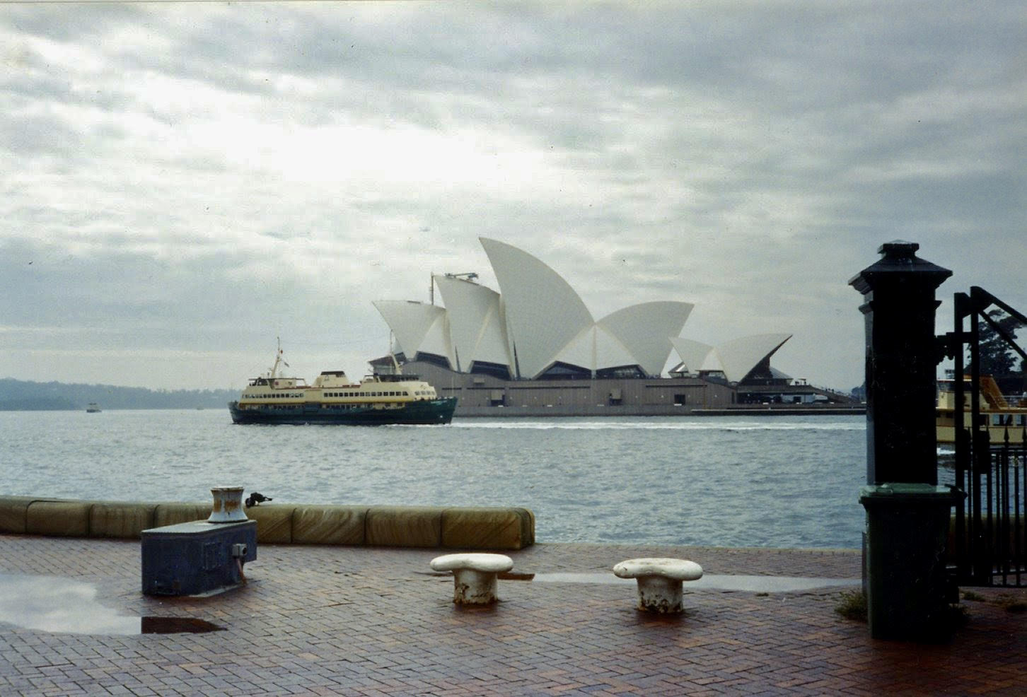 Sitting at Sydney harbor, looking at the Opera