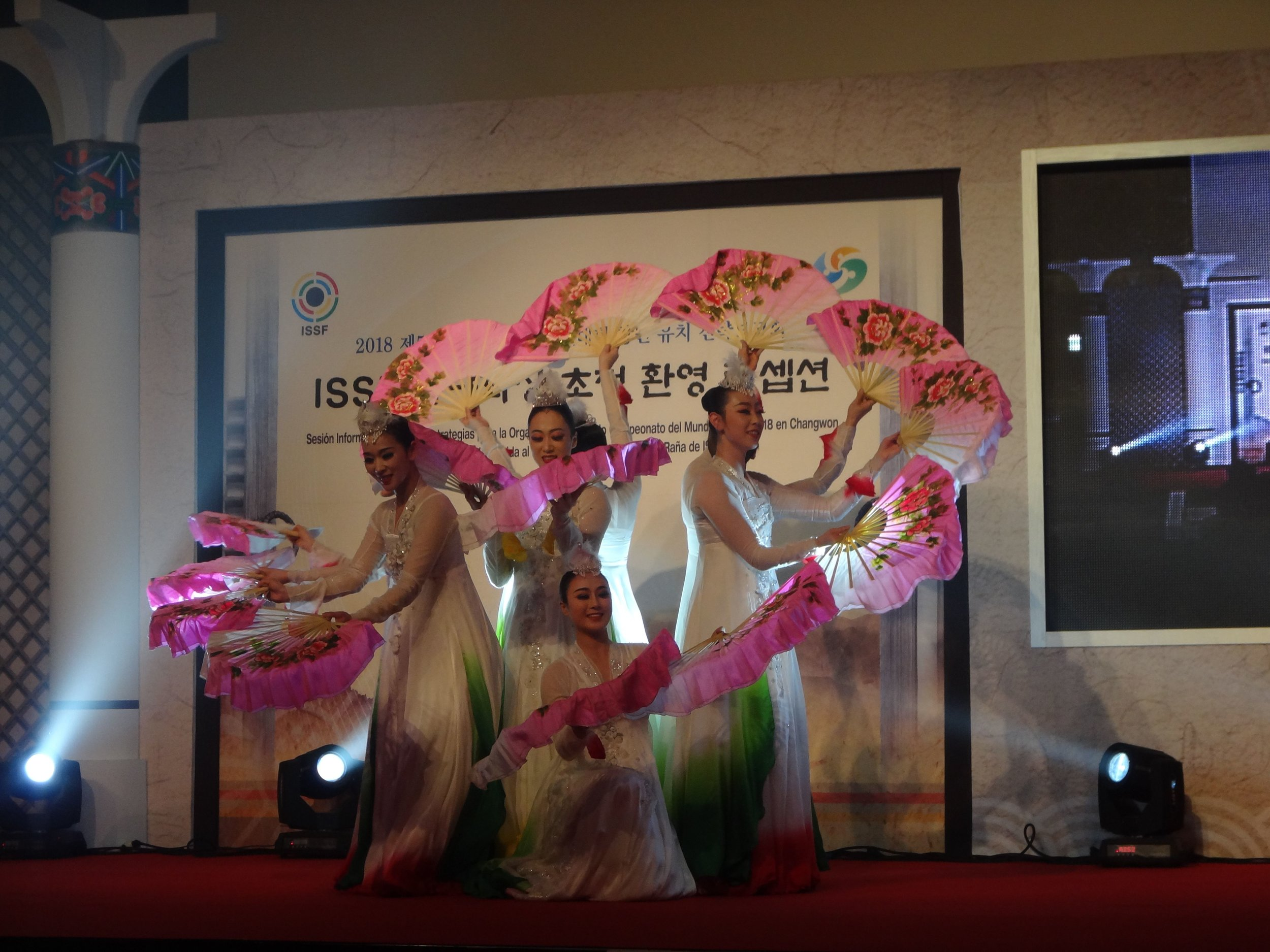 Beautiful Korean dancers at the Opening of our World Championship in Changwon