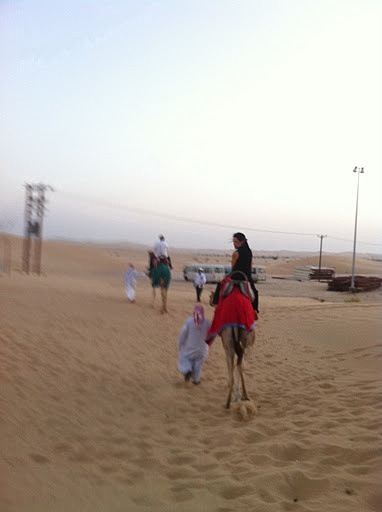 That's me on a camel, at a desert safari in Al Ain, United Arab Emirates