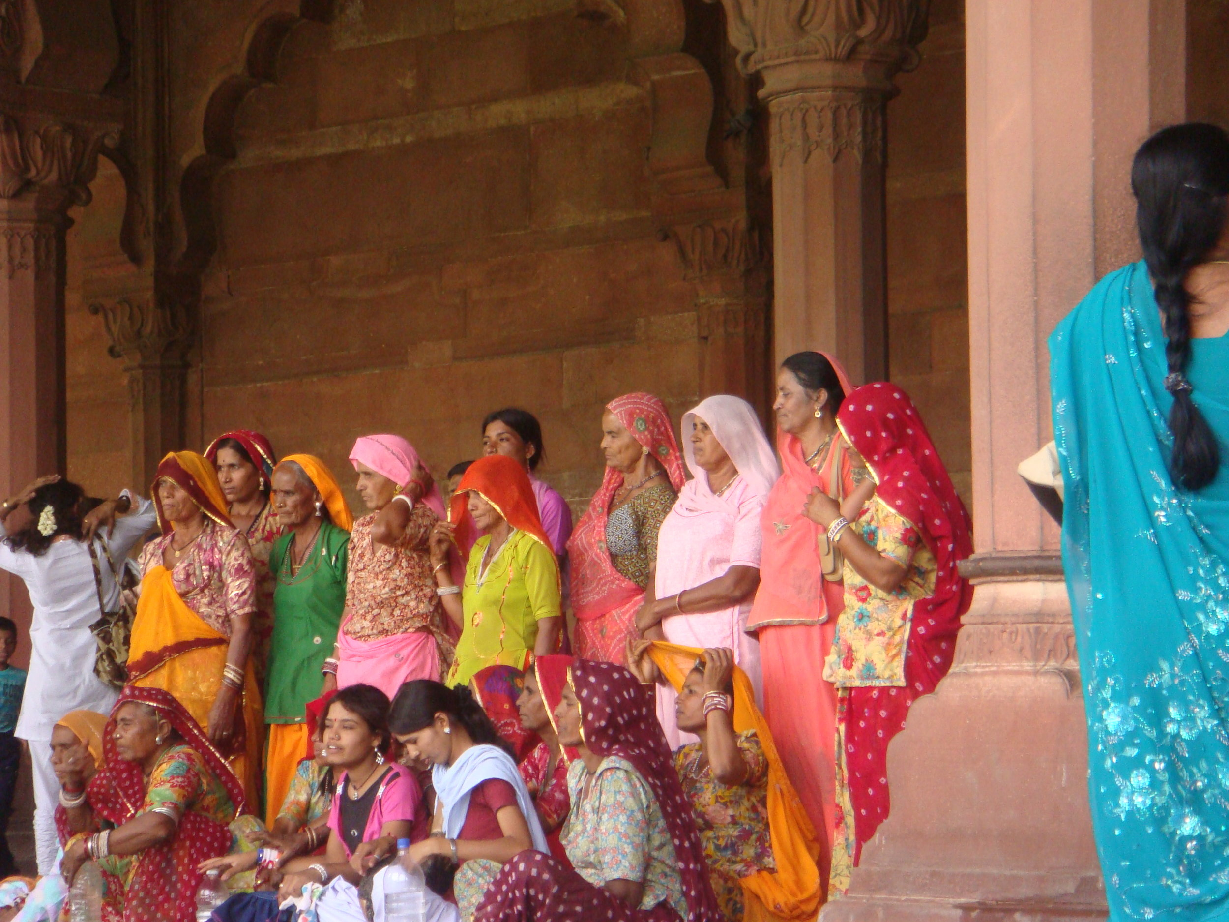 I took this photo of this group of ladies in these wonderful saris with their permission