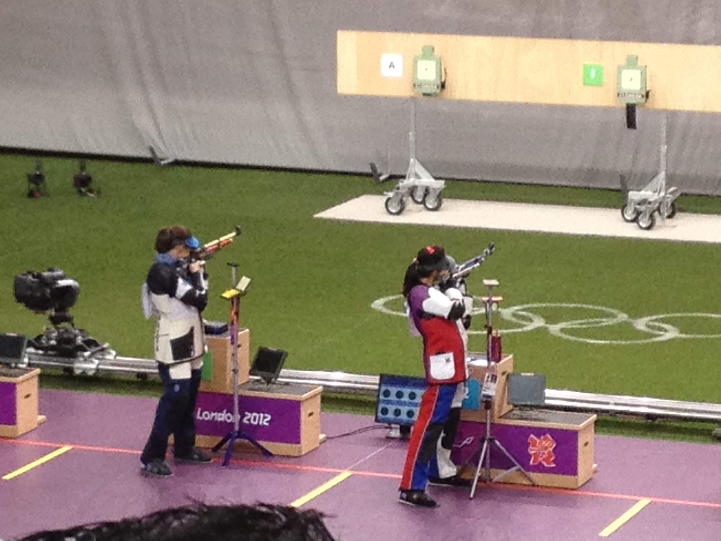 Female athletes competing during the London 2012 Olympic Games