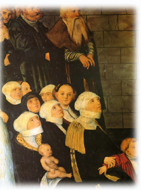 Women during a Lutheran service sometime around 1525.