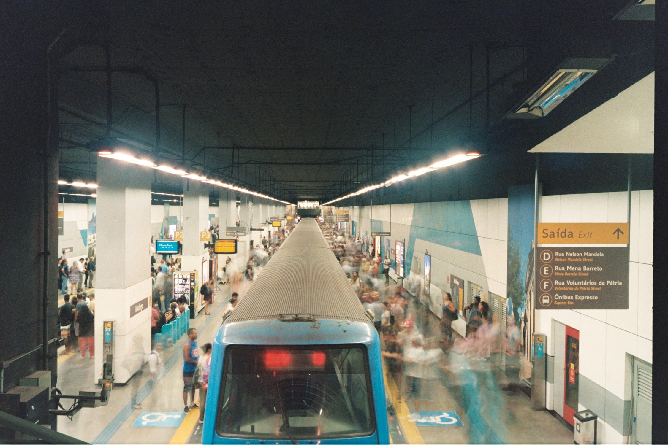 Metrô de Botafogo, analógica.