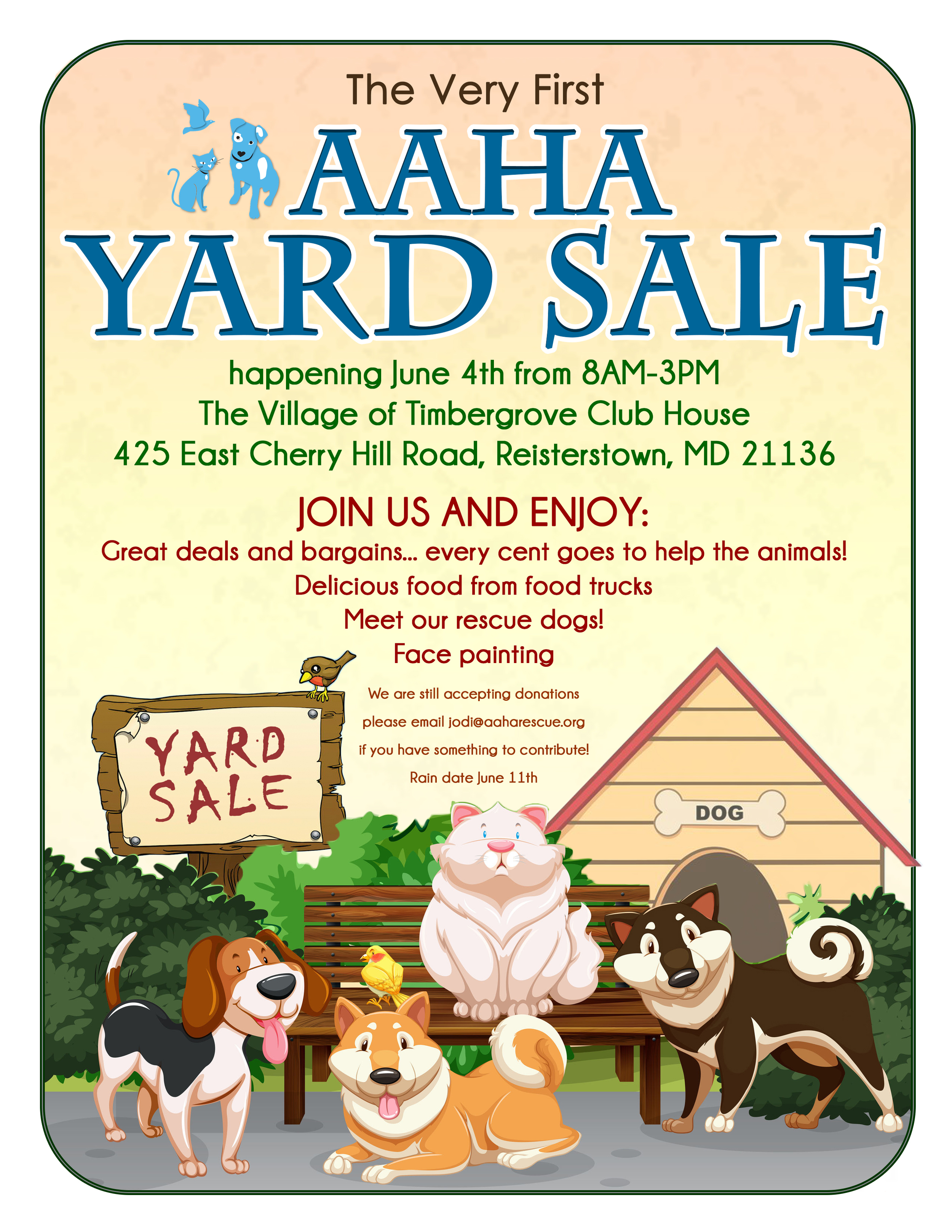 Consider making a donation for the yard sale.