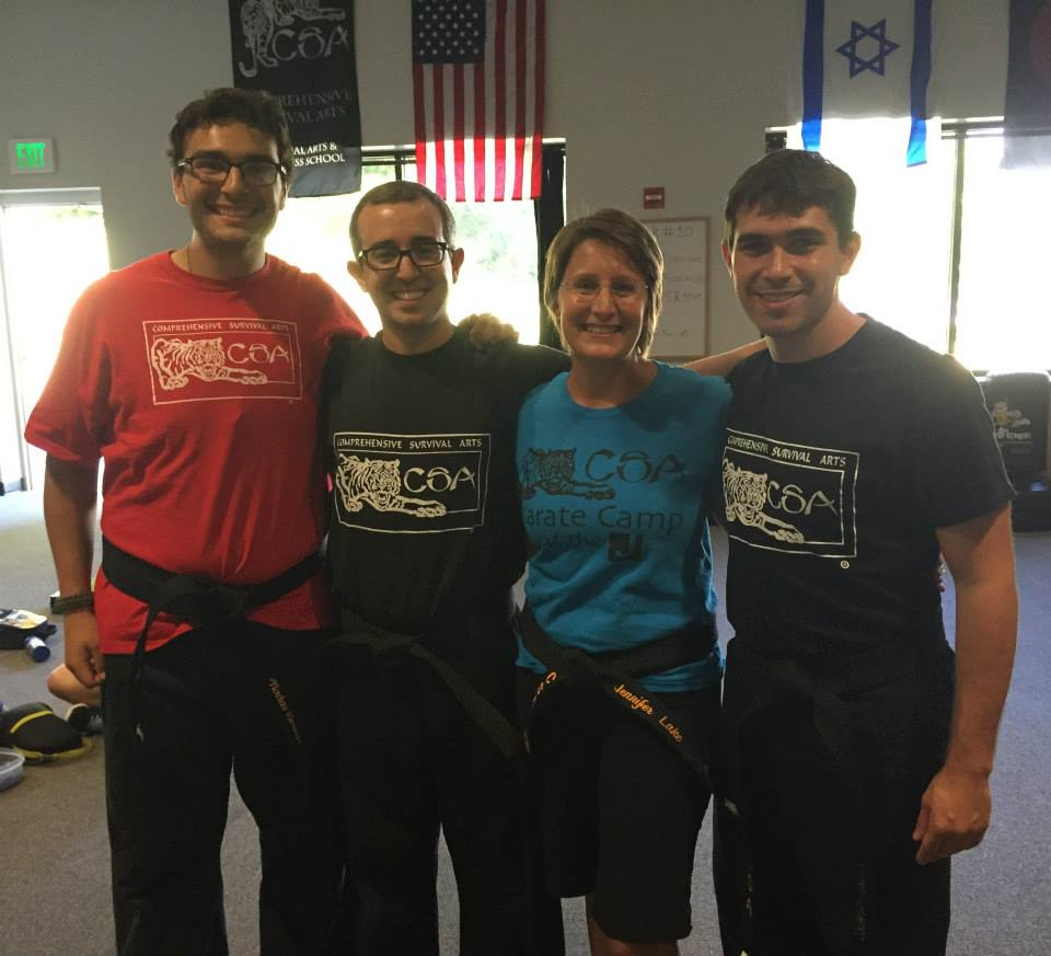 Four black belts in one room! So cool!