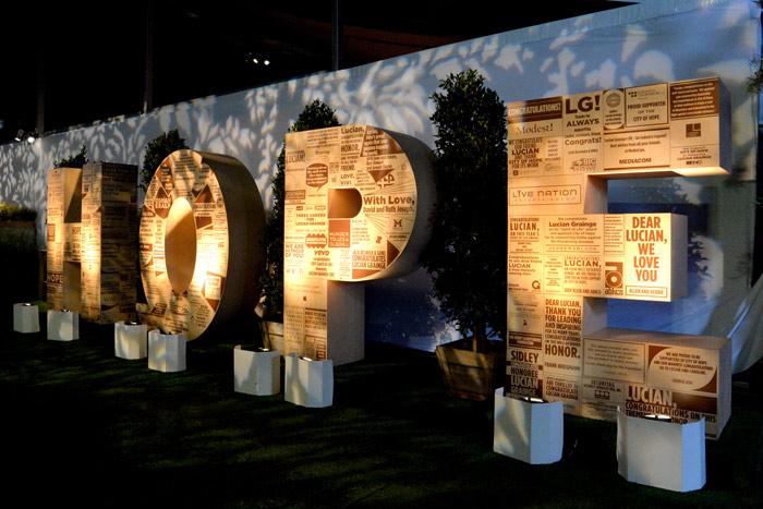 Lit Words_Letters Event Decoration