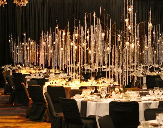 Elegant lighting_dining table_event